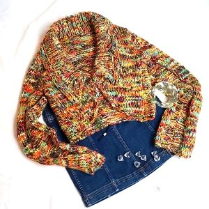 Free People Chunky Knit Crop Cardigan (M)